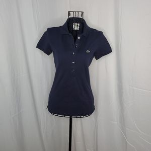 Lacoste navy blue polo shirt
